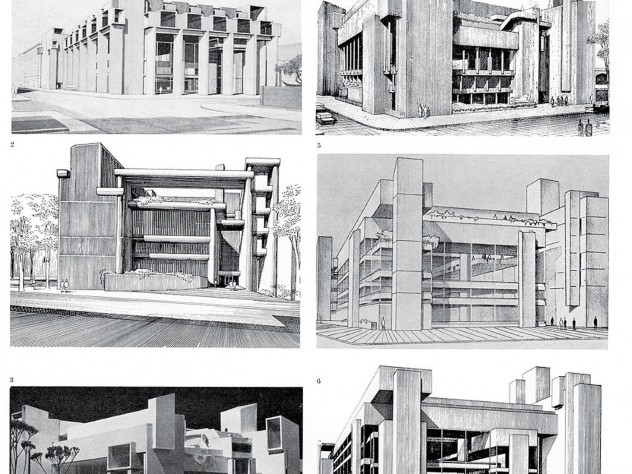 Designs for Paul Rudolph's iconic, controversial Yale Art & Architecture building, 1959-1961