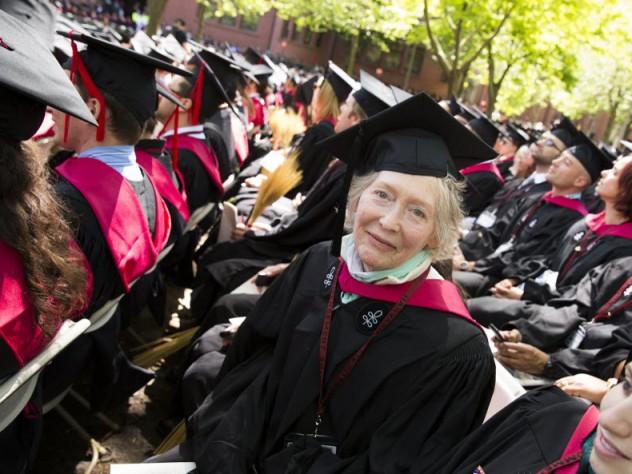 Joan Lambert among the 2014 graduates
