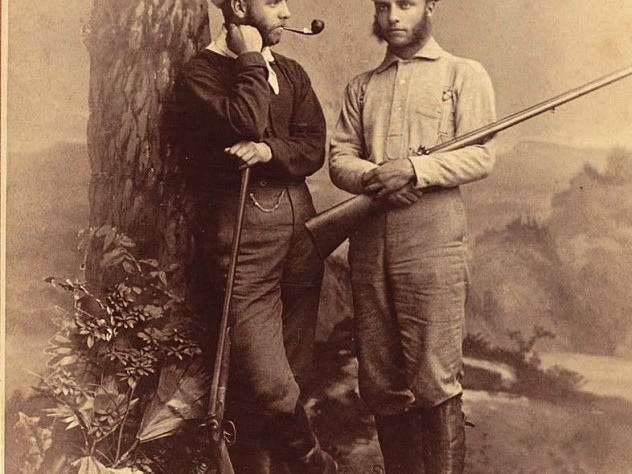Westward ho! Theodore Roosevelt and brother Elliott en route to TR's first western hunting trip, 1880