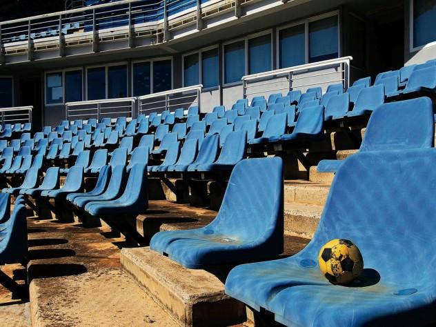the 2004 Athens softball venue, derelict a decade later