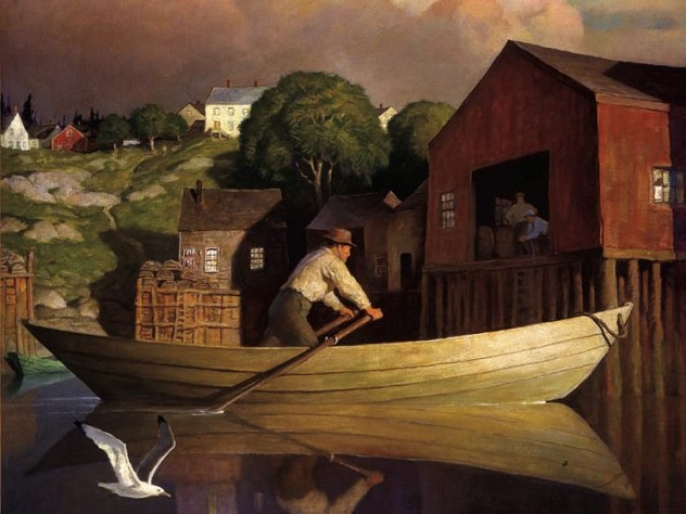 N.C. Wyeth reportedly considered <i>The Doryman</i> (1933) one of his best works.