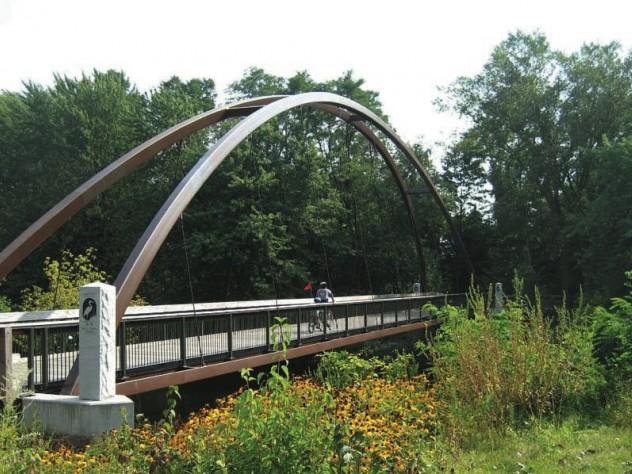 Blue Heron Bridge on the Charles River