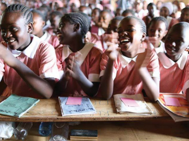 ZanaAfrica works with local, school-affiliated organizations in Kenya to reach young girls, like these students, who may need supplies and information.