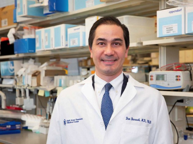 Dan Barouch in his Beth Israel Deaconess Medical Center laboratory
