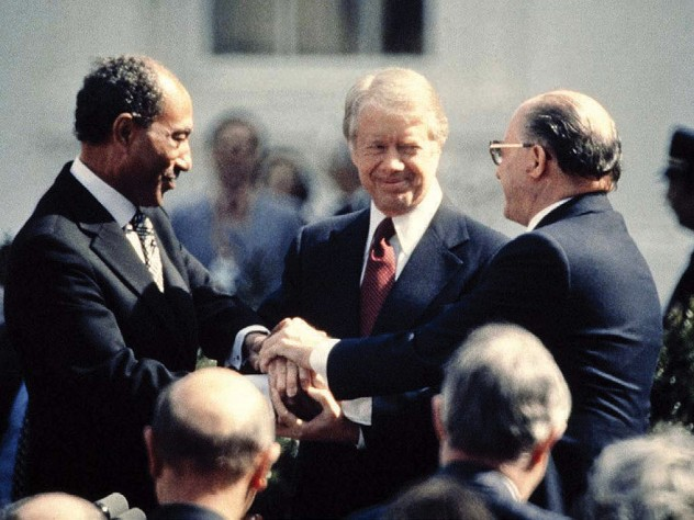 Jimmy Carter, Anwar el-Sadat and Menachem Begin, March 26, 1979, the White House