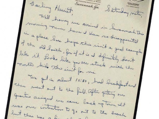 First page of a wartime letter