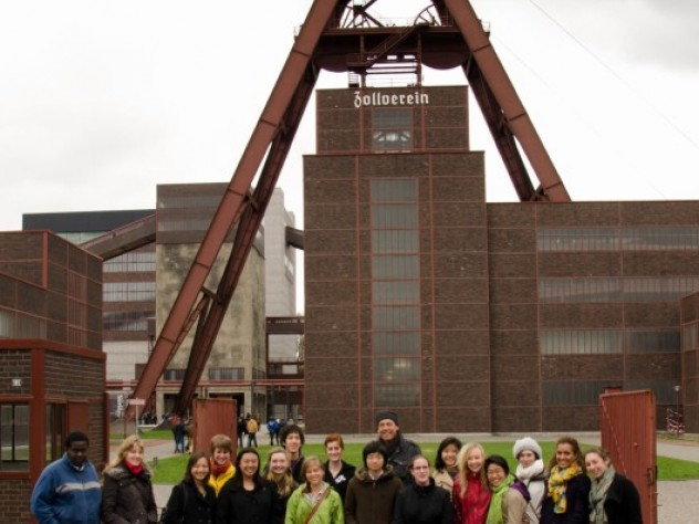 """The students in the """"History of Capitalism"""" seminar toured the Ruhr region to learn about the Industrial Revolution."""