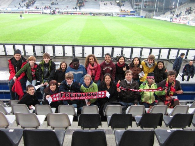 HCEP students attending a football match of the local team SC Freiburg