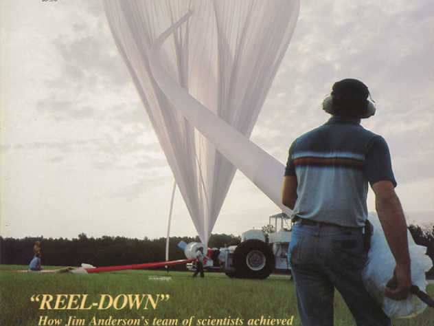Weld Professor of atmospheric science James G. Anderson's research into ozone loss was the Harvard Magazine cover story in January 1983. Using Kevlar rope as a tether, his team sent a balloon eight miles up to sample the atmosphere at precise intermediate altitudes.