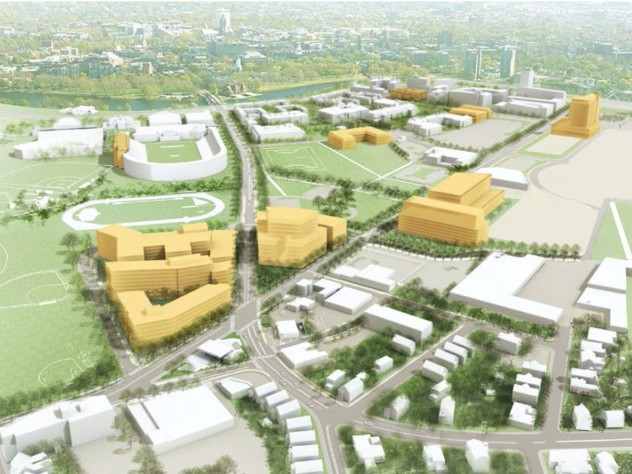 A 3-D view of Harvard's Allston holdings in 10 years.