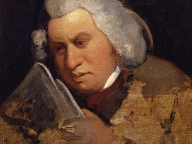 A copy portrait of Samuel Johnson by Gilbert Stuart, after Sir Joshua Reynolds, from <em>A Monument More Durable Than Brass</em> at Houghton Library