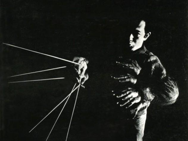 Conductor James Yannatos on the cover of the <em>Harvard Alumni Bulletin</em> of January 1969.