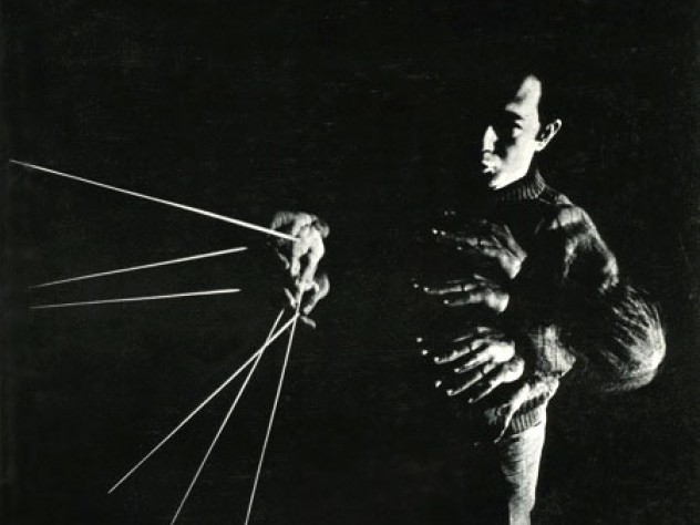 Conductor James Yannatos on the cover of the <em>Harvard Alumni Bulletin</em> of January 1969.