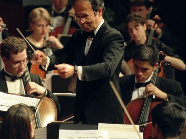 James Yannatos in his fortieth year as HRO conductor in 2004.