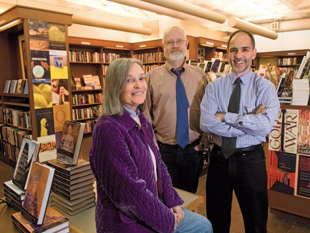 Parker, Flemming, and Duncan ran a sophisticated bookstore in the heart of the Square.