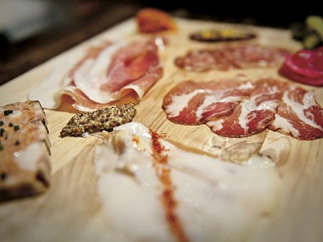 Cured meats, specialties of the house.