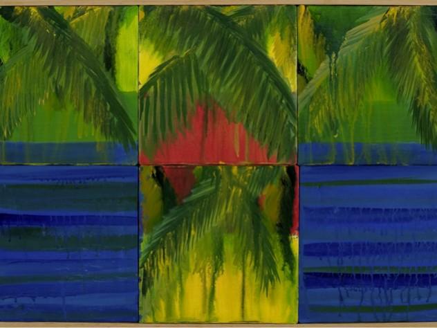 <em>Visions of Kerala 1</em> (acrylic on canvas, 2005)