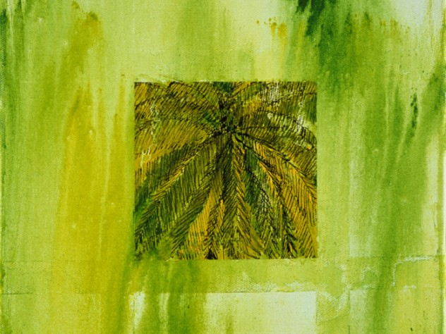 <em>Kerala Palm Framed</em> (acrylic on canvas, 2002)