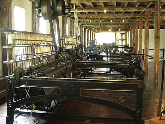 inside, spinning machines offer a sense of the production process