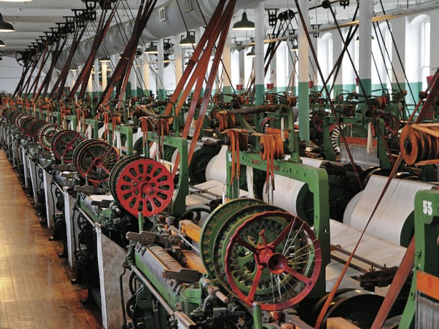 The Lowell National Historic Park's Boott Mill weave room
