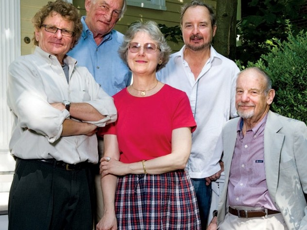 From left: stalwart staffers Harrison, Reed,  Martin, Steele, and Bethell