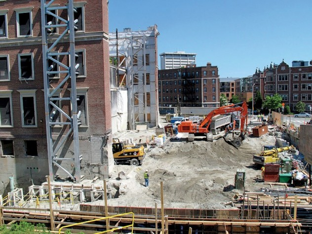 As of early July, construction of the new Harvard Art Museums building remained in the excavation phase.
