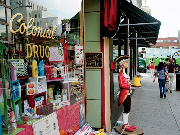 Colonial Drug has sold elegant perfumes, soaps, and shaving tools since 1947.