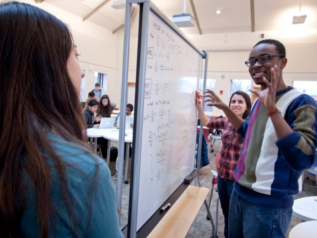 Undergraduate course assistants Rachel Zax and Abiola Laniyonu