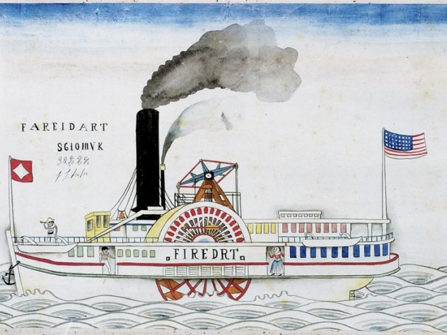 The company's 700-ton steamship the <i>Fire Dart</i>, commissioned in 1859-1860 for the Yangtze River trade after the Second Opium War. It flies the Heard colors.