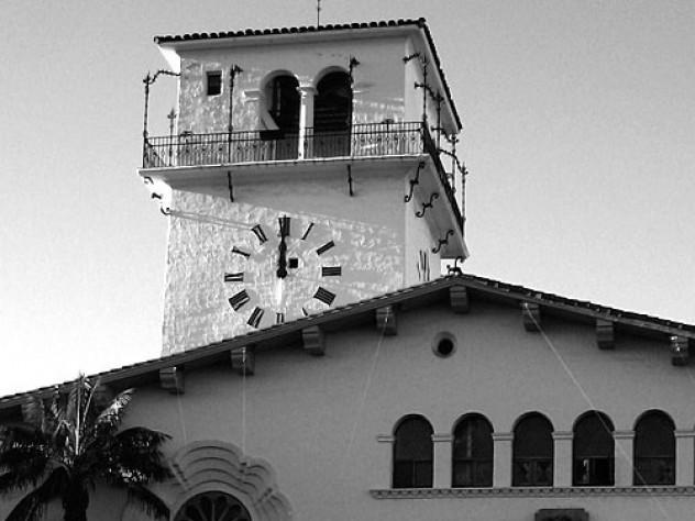 The Santa Barbara (California) Courthouse clock tower