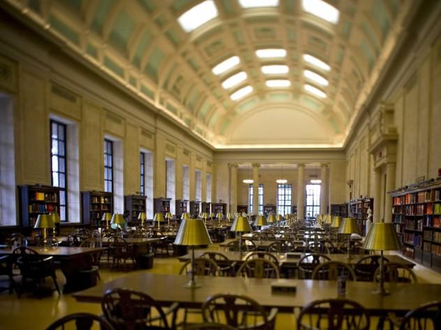 Loker Reading Room in Widener Library