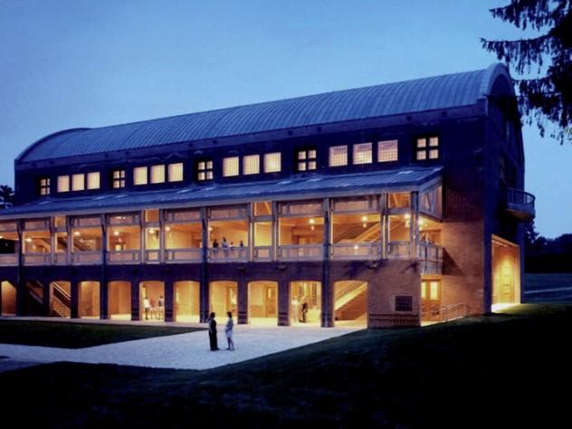 Ozawa Hall at twlight