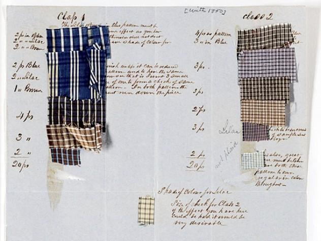 Silk samples, c.1850