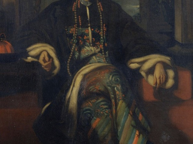 The merchant Hoqua, portrayed by George Chinnery, c.1830, amassed a $26-million fortune, placing him among the world's richest men.