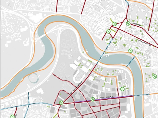 Long-term bicycle network