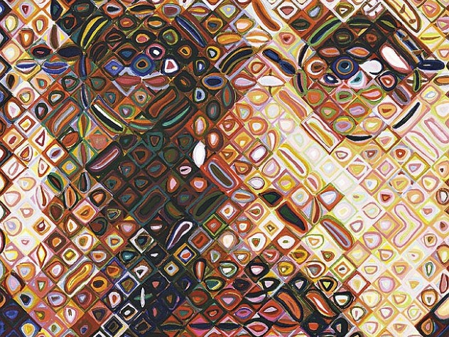 Chuck Close&rsquo;s <i>Self-Portrait Woodcut</i> (2009), Bruce Museum