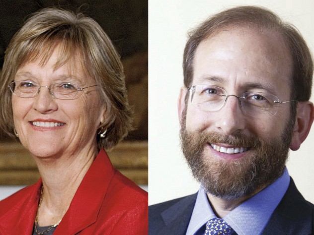 Drew Faust and Alan M. Garber