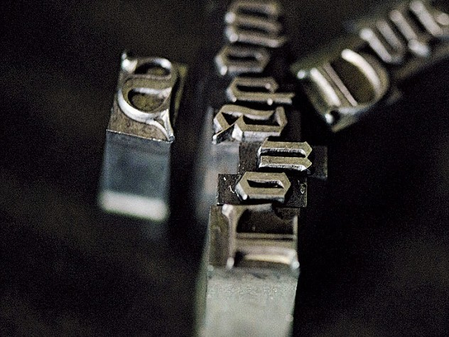 Arion casts and maintains a large inventory of letterpress type
