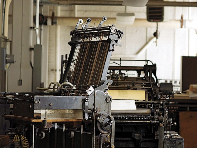 The Miller two-color cylinder press