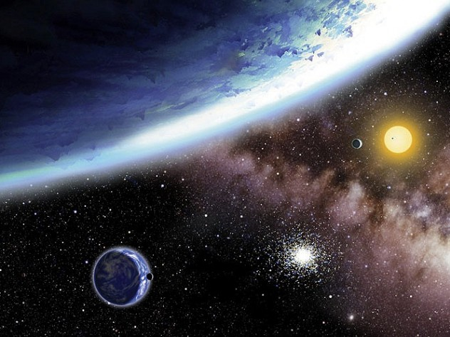 """Discover new """"alien worlds"""" (depicted at left) through lectures at the Harvard-Smithsonian Center for Astrophysics."""