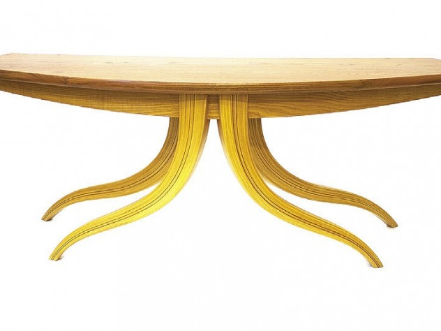 Jere Osgood teak desk (1978), Fuller Craft Museum
