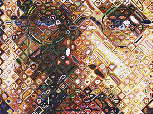 Chuck Close&rsquo;s <i>Self-Portrait Woodcut</i> (2009), Bruce Museum