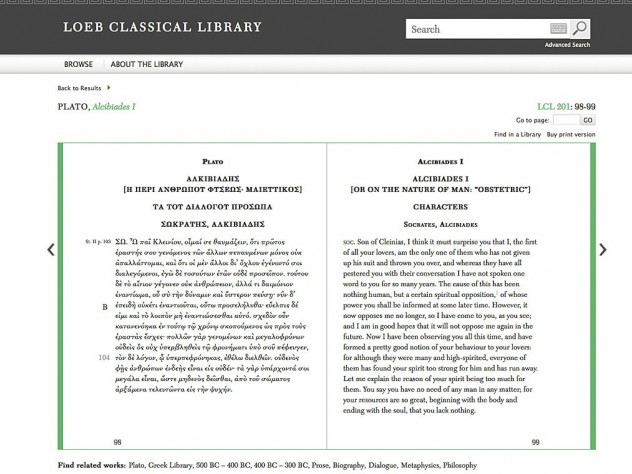 The Loeb classics, newly available online