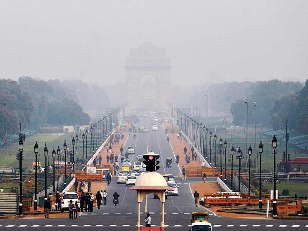 Smog in New Delhi, February 2013