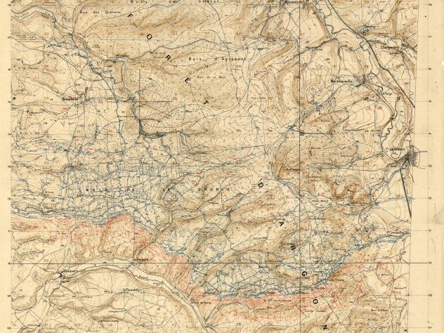 A July 23, 1918, map of the Argonne Forest