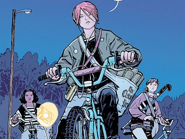 """Sample page from """"Paper Girls #1,"""" Chiang's new series"""
