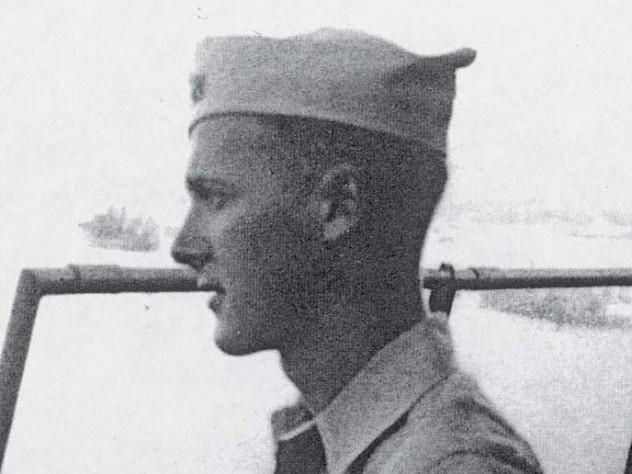 Robert M. Pennoyer, age 19, on duty in 1944