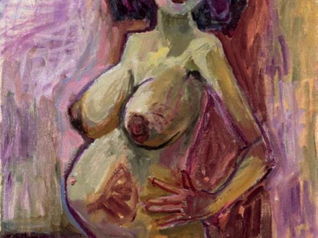 Painting of a pregnant nude