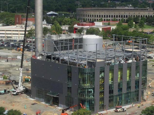 Photograph of Allston cogeneration energy plant