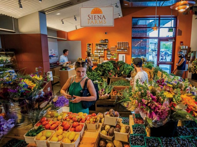 Fresh produce at the Siena Farms shop